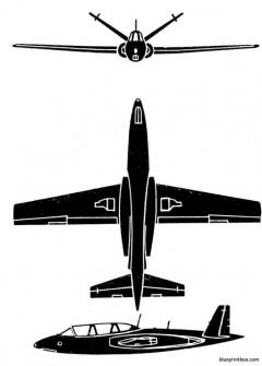 fouga magister model airplane plan