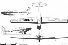 fournier rf 4d model airplane plan