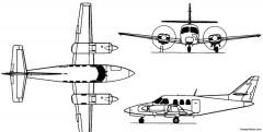 fuji rockwell commander 700 710 1975 model airplane plan