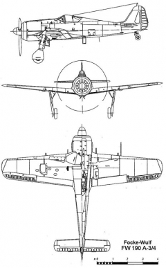 fw190a3 3v model airplane plan