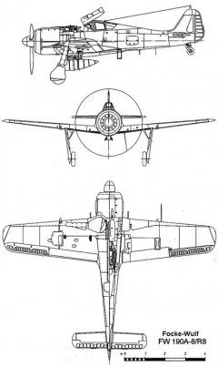 fw190a8 3v model airplane plan