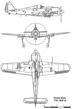 fw190f8 3v model airplane plan