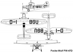 fw47d 3v model airplane plan