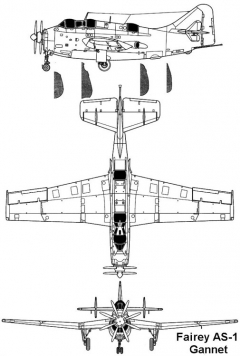gannet 1 3v model airplane plan
