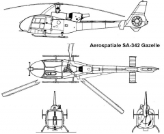 gazelle 3v model airplane plan