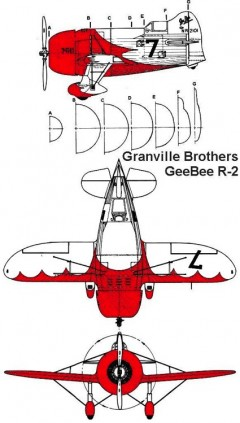 geebee r2 3v model airplane plan