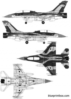 general dynamic f 16b fighting falcon model airplane plan