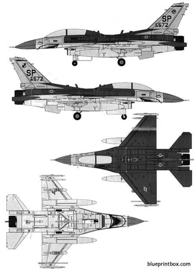 general dynamic f 16d fighting falcon model airplane plan