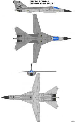 general dynamics ef 111a model airplane plan