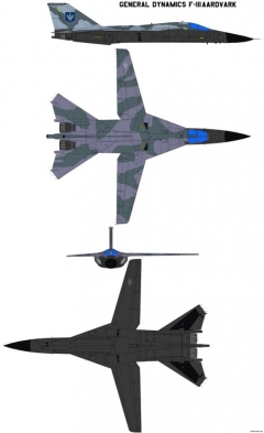 general dynamics f 111 2 model airplane plan
