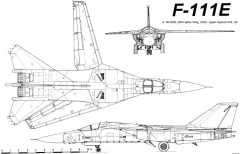 general dynamics f 111e 2 model airplane plan