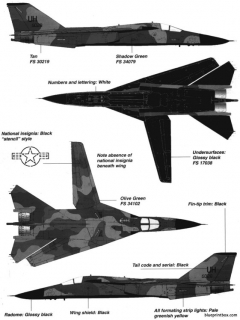 general dynamics f 111e 3 model airplane plan