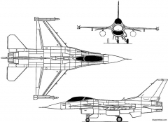 general dynamics f 16 1974 usa model airplane plan