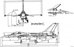 general dynamics f 16 fighting falcon model airplane plan