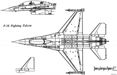 general dynamics f 16 fighting falcon 3 model airplane plan