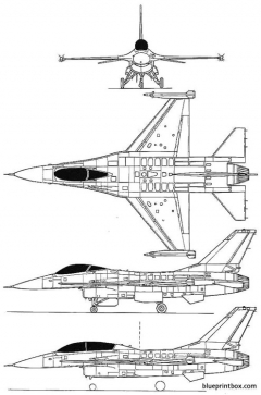 general dynamics f 16a b fighting falcon model airplane plan