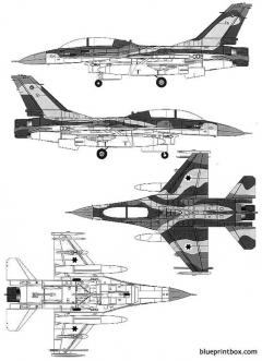 general dynamics f 16b fighting falcon model airplane plan