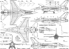 general dynamics f 16c block 52 2 model airplane plan