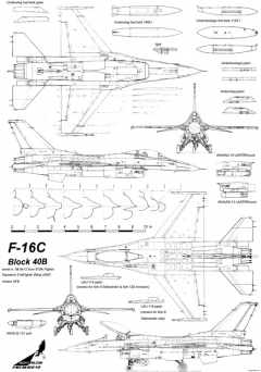 general dynamics f 16c falcon block 40 model airplane plan
