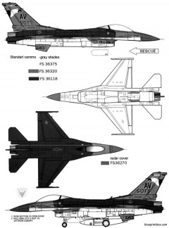 general dynamics f 16c falcon block 40 2 model airplane plan