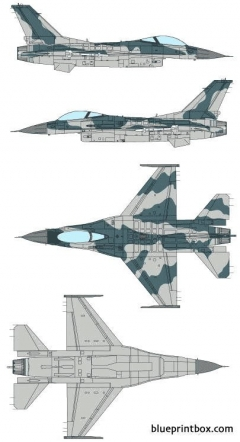 general dynamics f 16c fighting falcon model airplane plan