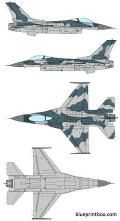 general dynamics f 16c fighting falcon model airplane plan