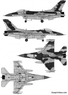 general dynamics f 16c fighting falcon 2 model airplane plan