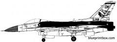 general dynamics f 16c fighting falcon 3 model airplane plan