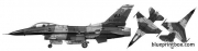 general dynamics f 16c fighting falcon 4 model airplane plan