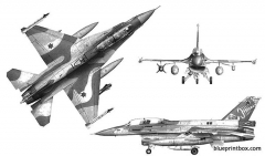 general dynamics f 16d thunderbolt model airplane plan