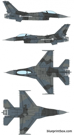 general dynamics f 16n fighting falcon model airplane plan
