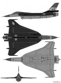 general dynamics f 16xl model airplane plan