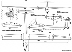glaser dirks dg 100 model airplane plan