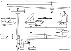 glaser dirks dg 200 model airplane plan