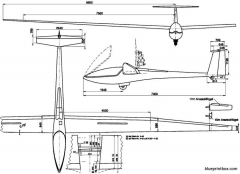 glaser dirks dg 400 model airplane plan