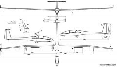 glaser dirks dg 500 model airplane plan