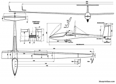 glaser dirks dg 800 b model airplane plan