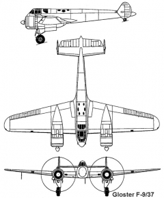 gloster f9 3v model airplane plan
