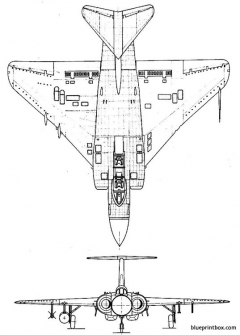 gloster faw 9 javelin 2 model airplane plan