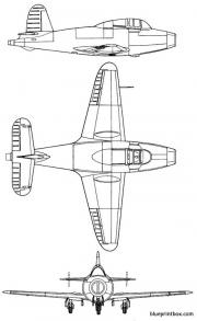 gloster g 40 model airplane plan