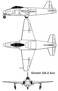 gloster ga2 3v model airplane plan