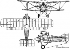 gloster gambet 1927 england model airplane plan