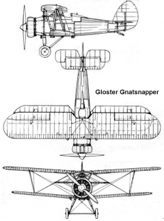 gloster gnatsnapper 3v model airplane plan