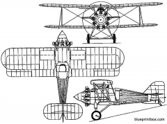 gloster goldfinch 1927 england model airplane plan