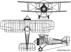 gloster grebe 1923 england model airplane plan
