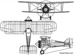 gloster grebe 1923 england model airplane plan