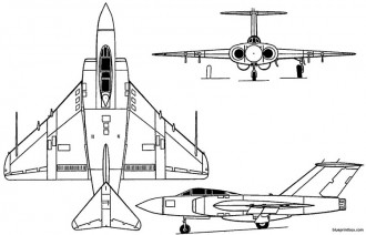 gloster javelin 3 model airplane plan