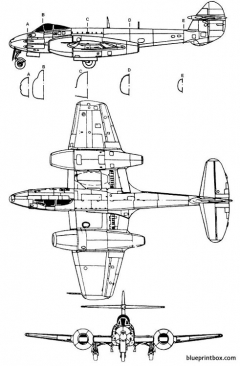 gloster meteor f4 model airplane plan