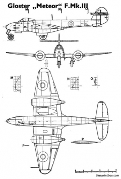 gloster meteor mkiii model airplane plan