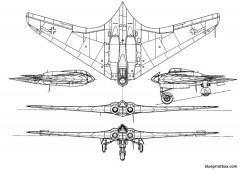 gothaer wagonfabrik gotha 229 hortenix model airplane plan